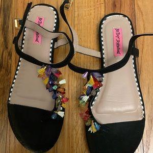 Betsey Johnson flip flops